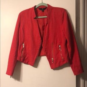 Red Missimo Moto blazer. Size 12